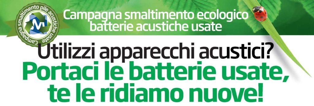 campagna smaltimento ecologico batterie acustiche usate